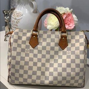 Handbags - Authentic Louis Vuitton Damier Azur speedy 30